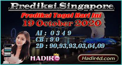 PREDIKSI TOGEL SINGAPORE 19 OCTOBER 2020