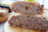 Ψωμί χωρίς Ζύμωμα με Καρύδια & Σταφίδες - by https://syntages-faghtwn.blogspot.gr