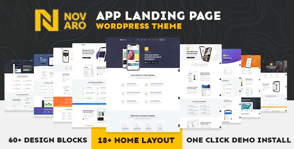 Best App Landing Page WordPress Theme