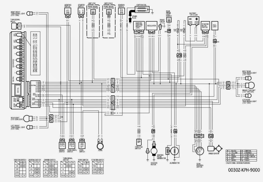 wiring diagram honda win 100