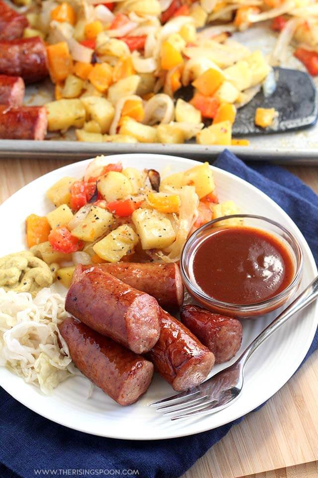 Top 10 Most Popular Recipes On The Rising Spoon in 2019: Smoked Sausage, Potatoes & Veggies Sheet Pan Dinner