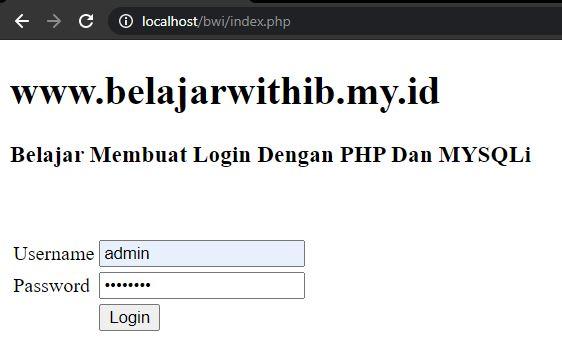 Tutorial PHP Pemula Part 13 : Cara Membuat Login PHP Dengan MD5 Dan Menggunakan Session