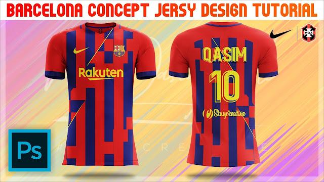 Barcelona Concept Jersy Design Tutorial in Photoshop cc 2019 by M Qasim Ali