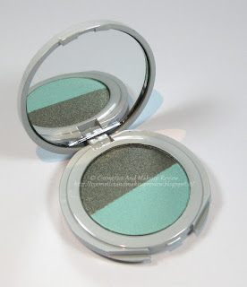 Labo Make-Up - Pure Flower Compact Eye-shadow Duo n.03 Olive green/Aqua green - descrizione