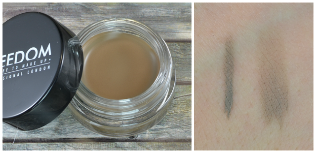 Freedom Make Up eyebrow pomade Taupe Swatches