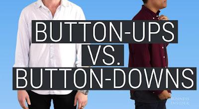ข้อแตกต่างระหว่างเสื้อเชิ้ต  Button-up และ Button-down