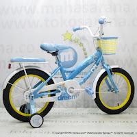 Sepeda Anak Wimcycle Disney Princess CTB 16 Inci Lisensi Blue