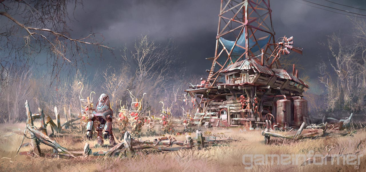 Late Fall Wallpaper Ilya Nazarov Concept Art Fallout 4 Concept Art