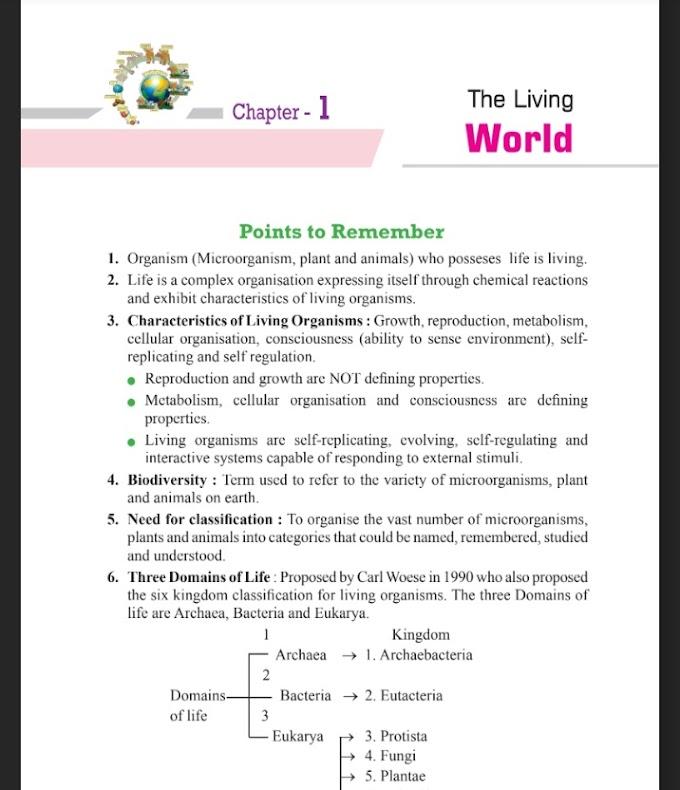 Biology Class 11 & 12 best Short Notes For Neet