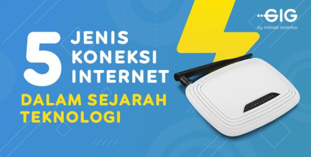 Ini 5 Jenis Koneksi Internet Dalam Sejarah Teknologi