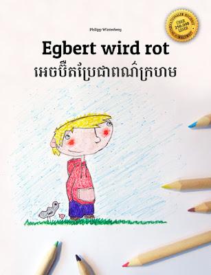 Egbert wird rot (Deutsch-Khmer)