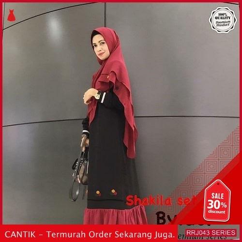 Jual RRJ043D72 Dress Muslim Wolfis Wanita Syakila Wd Terbaru BMGShop