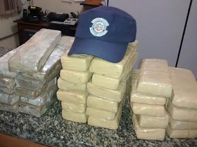 Guarda Civil de Itararé apreende 32 tijolos de maconha na zona rural