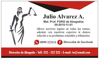 41fc1a151859a Tarjetas de Presentación para Abogados y Notarios ¡ESPECTACULAR!