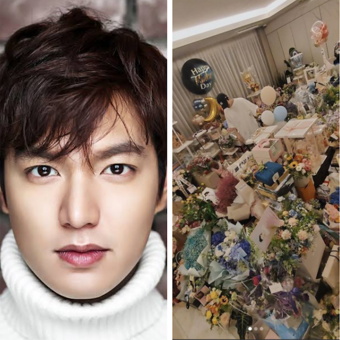 South Korean Actor, Lee Min-ho Shows Off The Massive Gifts He Received On His Birthday (Photos)