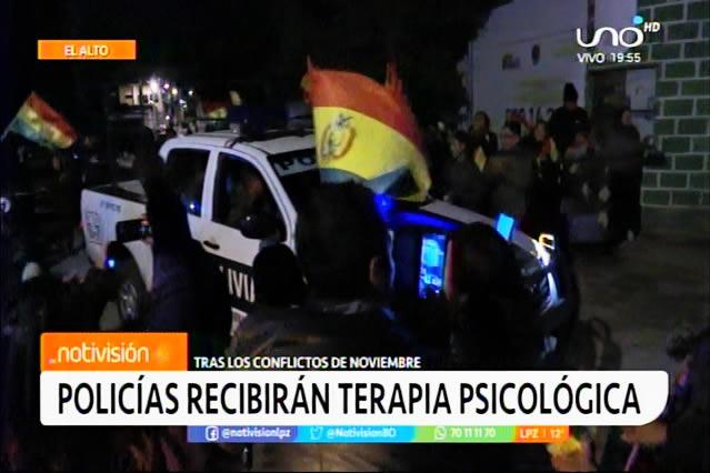 En El Alto policías recibirán terapia psicológica tras hechos de octubre y noviembre
