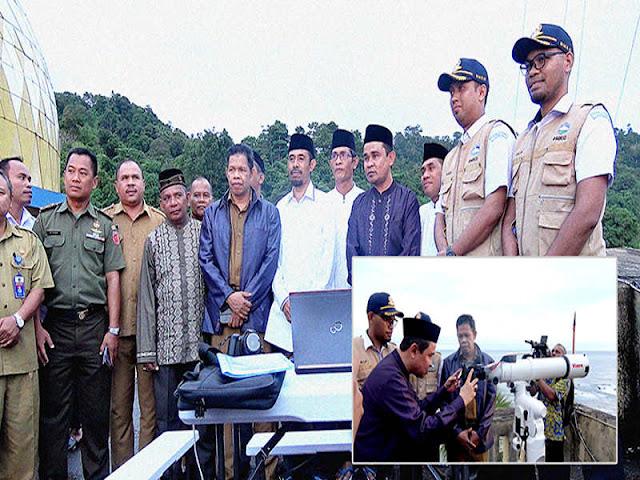 Kanwil Kemenag Maluku Lakukan Ru'yatul Hilal di Masjid Cakmar Marussalam Wakasihu