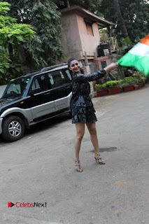Bollywood Actress Model Urvashi Rautela Stills in Black Dress at Republic Day Celebrations  0007.jpg