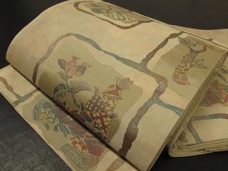 筍にイチジクの袋帯