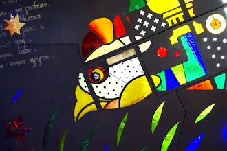 Paris : Ryaba la poule, un vitrail signé Ivan Loubennikov - Station Madeleine Ligne 14 - IXème