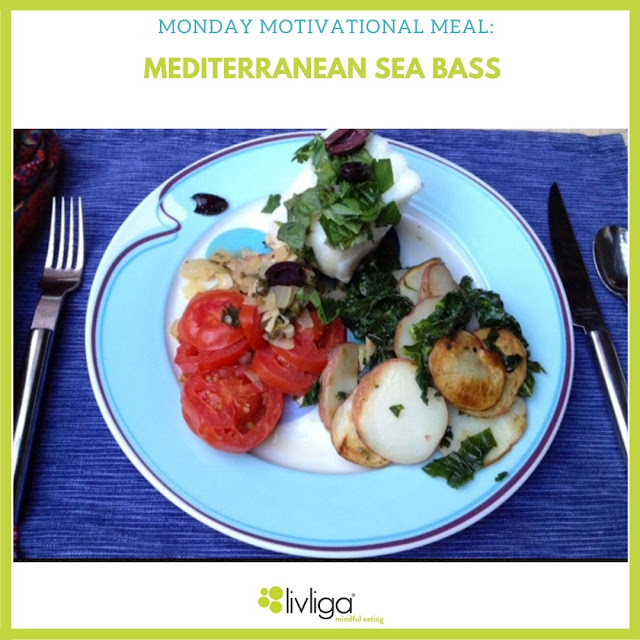 Livliga Healthy Mediterranean Sea Bass on Halsa Dinner Plate