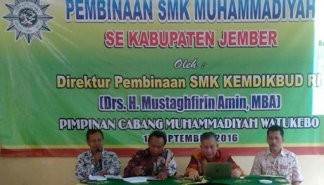 Direktur Pembinaan SMK Kemendikbud RI Bina SMK Muhammadiyah Se-Jember