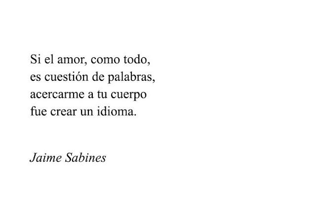 Si el amor como todo es cuestión de palabras