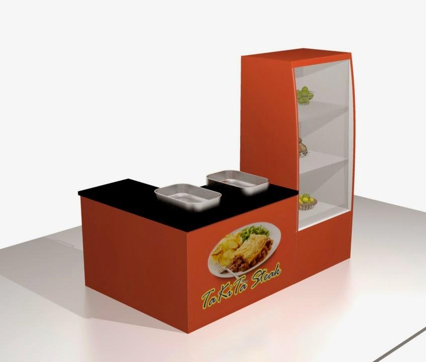 desain 3d etalase makanan kantin dinas pertanian purwodadi