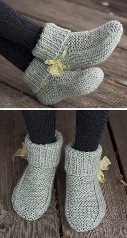 Nola's slippers - Free Knitting Pattern
