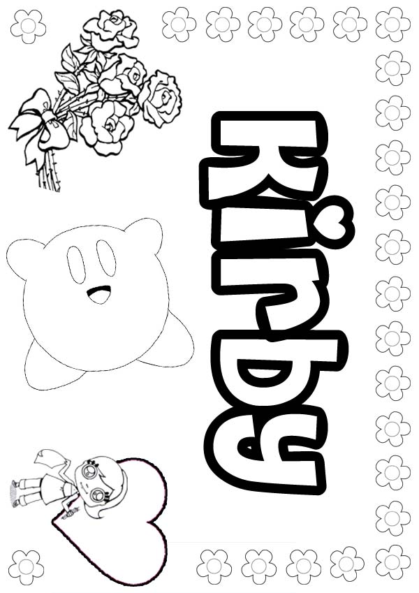 Dorable Kirby Coloring Pages Poderes Embellecimiento - Dibujos Para ...