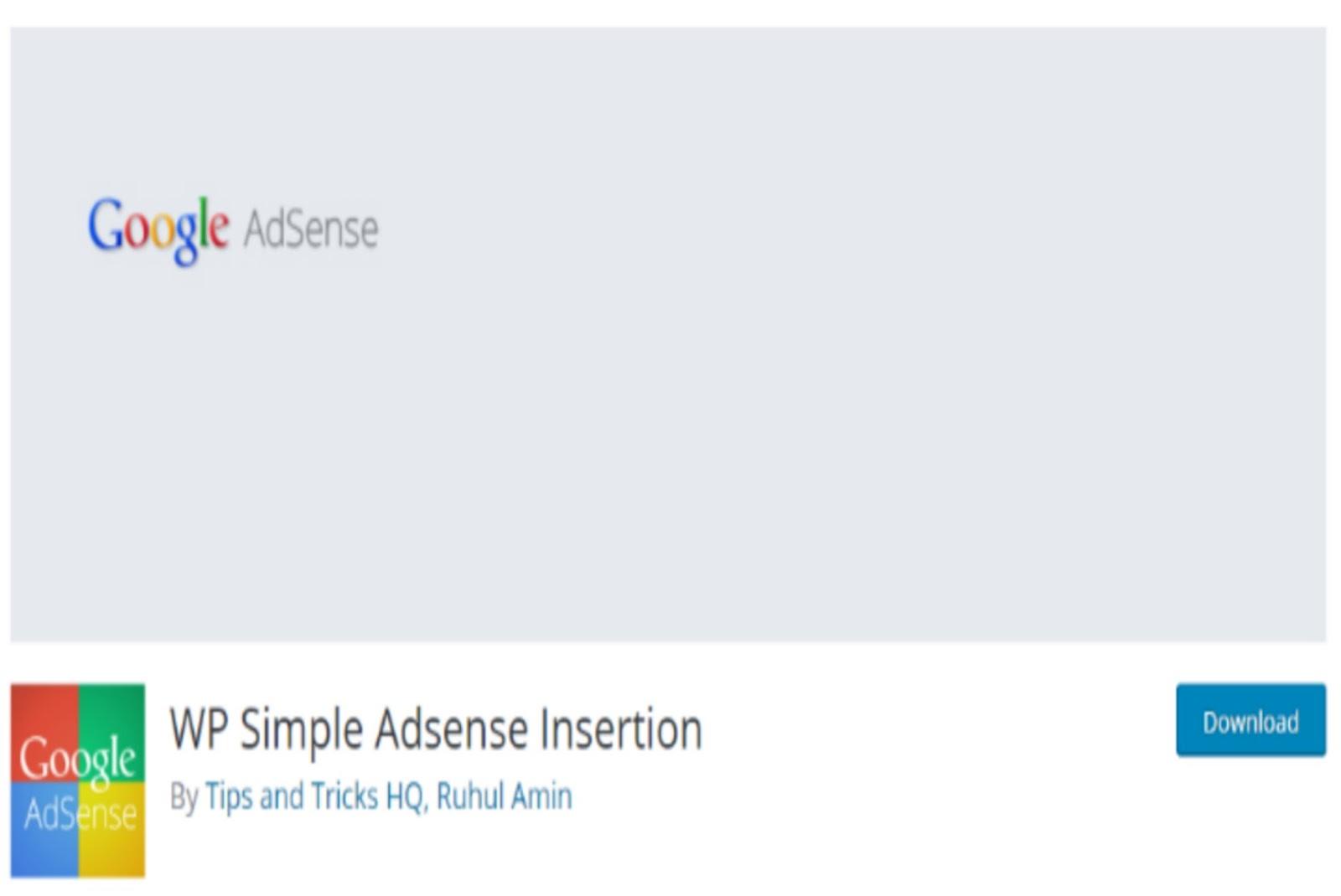WP Simple Adsense Insertion WordPress Plugin