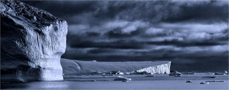 Paisaje en el hielo polar