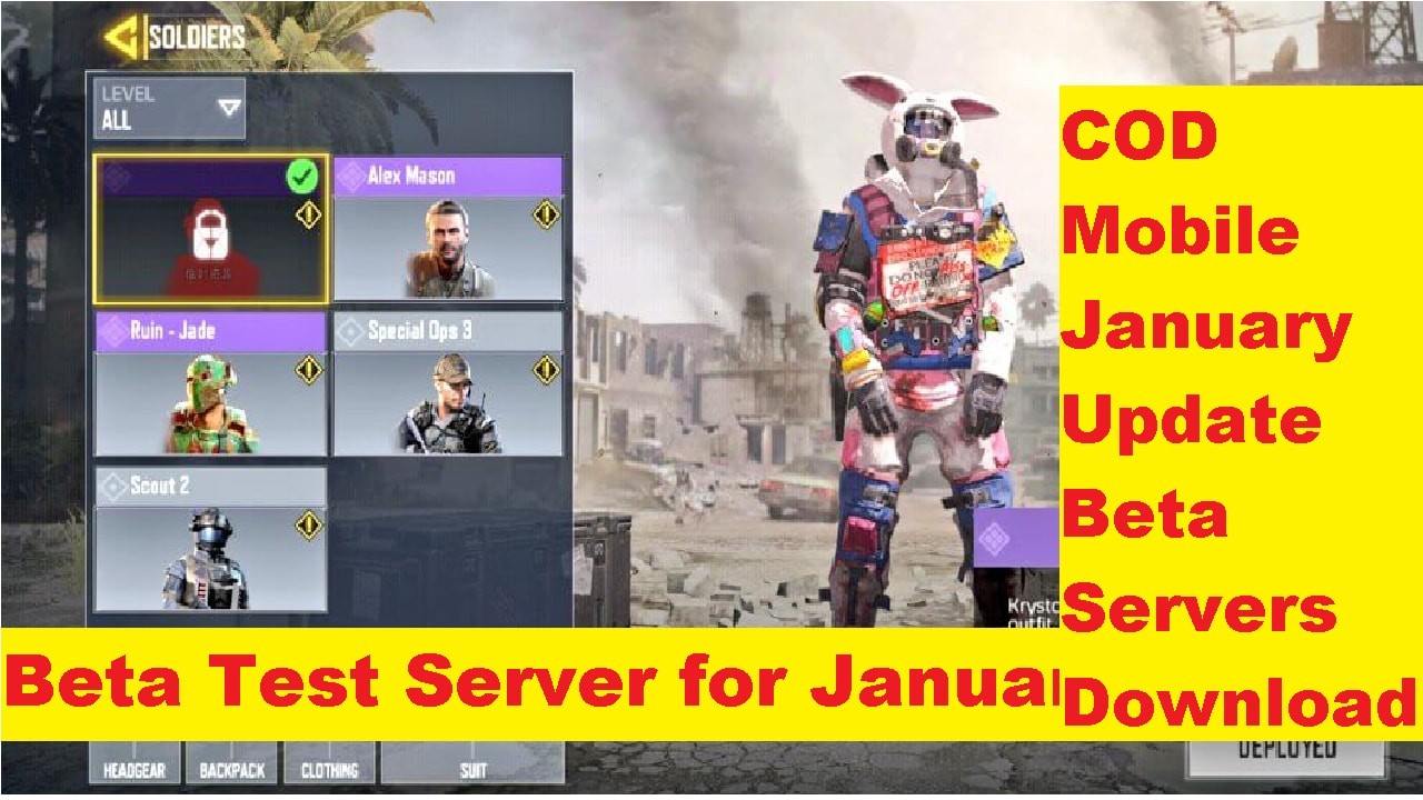 Call Of Duty Mobile: Download Beta Test Version of COD Mobile January Update| 2020 1