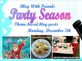 Blog With Friends, a multi-blogger project based post incorporating a theme, Party Season | Featured on www.BakingInATornado.com