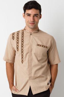 Model baju koko lengan pendek yang moderen