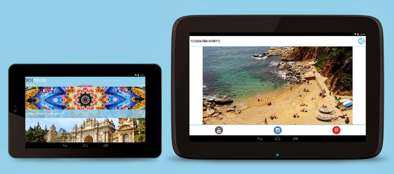 Viajes y escapadas en tu smartphone o tablet
