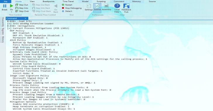 Iris : WinDbg Extension To Display Windows Process Mitigations