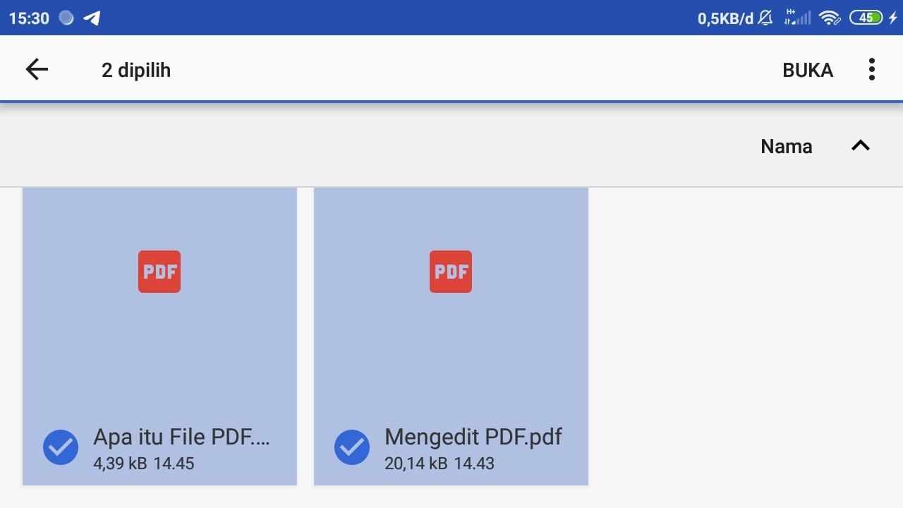 Pilih File PDF dari Smartphone
