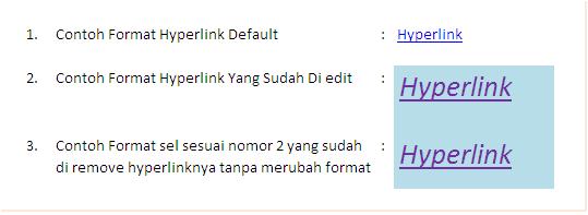 Cara Format Hyperlink Excel
