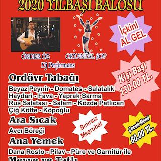 80'ler Mangal İzmir Yılbaşı Programı 2020 Menüsü