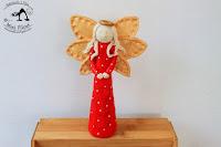 Aniołek w Czerwieni - Figurka z Masy Solnej