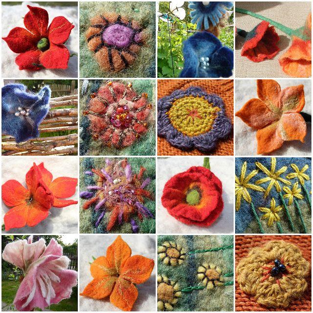 Suche Anleitungen textile Blüten und Blumen