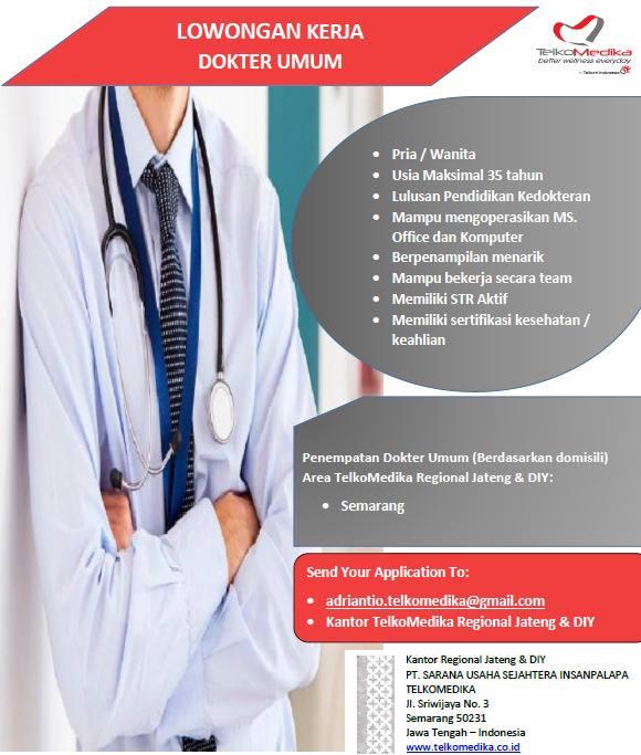 Loker Dokter TELKOMEDIKA Semarang, Jawa Tengah