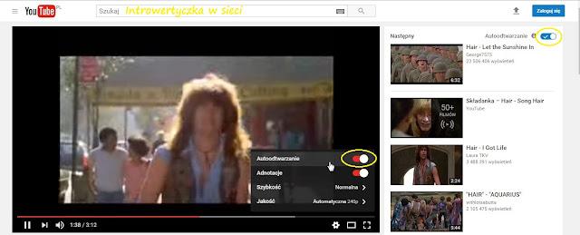 Ustawienia filmu na Youtube