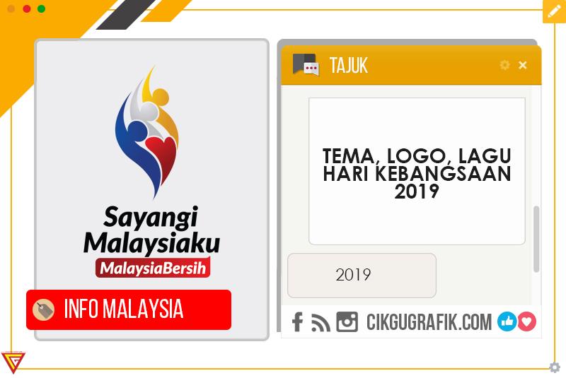 Tema Logo Lagu Hari Kebangsaan 2019 Koleksi Grafik Untuk Guru