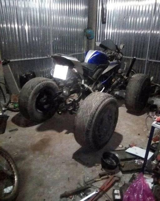 R15 Dimodif Jadi ATV (Quadbike), Cakep !!!