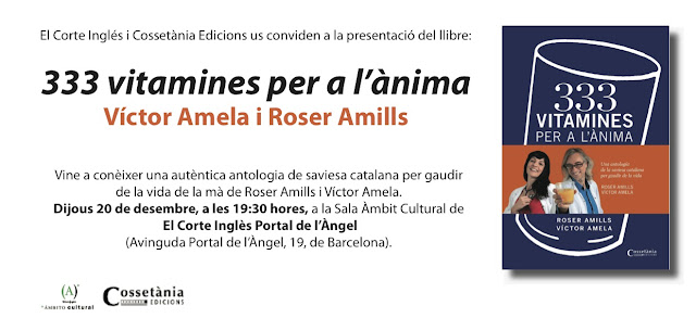 """Llibre """"333 vitamines per a l'ànima"""" by Roser Amills and Víctor Amela goes on sale"""
