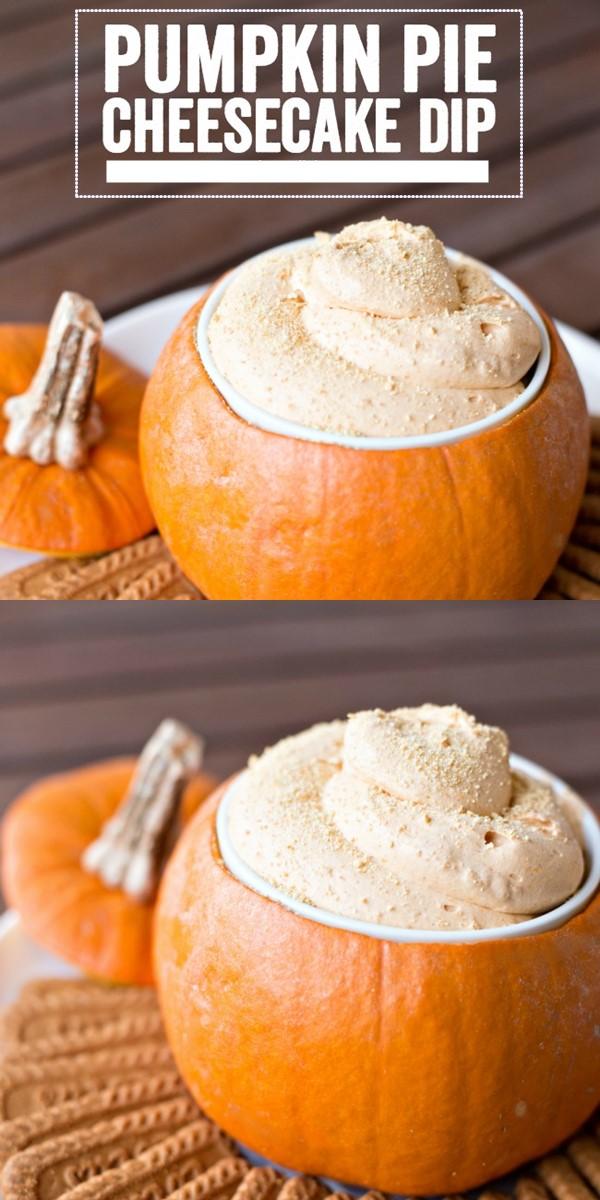 Pumpkin Pie Cheesecake Dip #halloweenrecipes