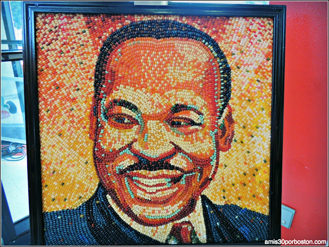 Martin Luther King Jr. Realizado con Jelly Belly en California
