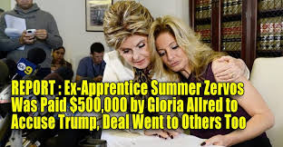 Summer Zervos, Gloria Allred news conference